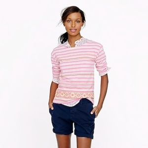 J. Crew Stitch work stripe top